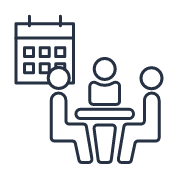 Reserve a Meeting room quick link icon depicting people sitting at a conference table