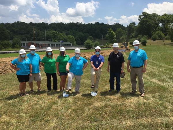 Library staff and board at Midland Branch groundbreaking
